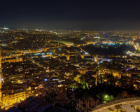 Night View of Athens From Greece