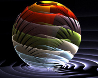 Colorful Glass Ball 3D