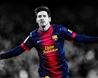 Black and White and Messi